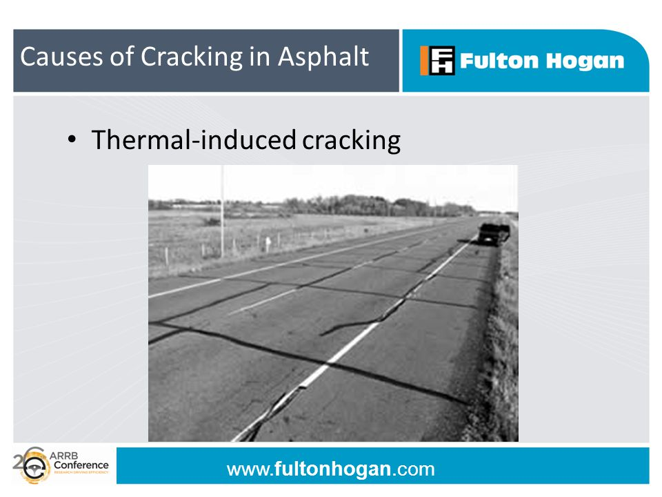 www.fultonhogan.com Thermal-induced cracking Causes of Cracking in Asphalt