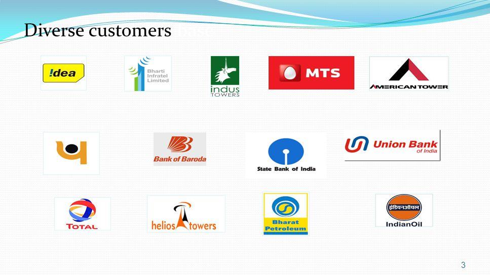 3 Diverse customers base