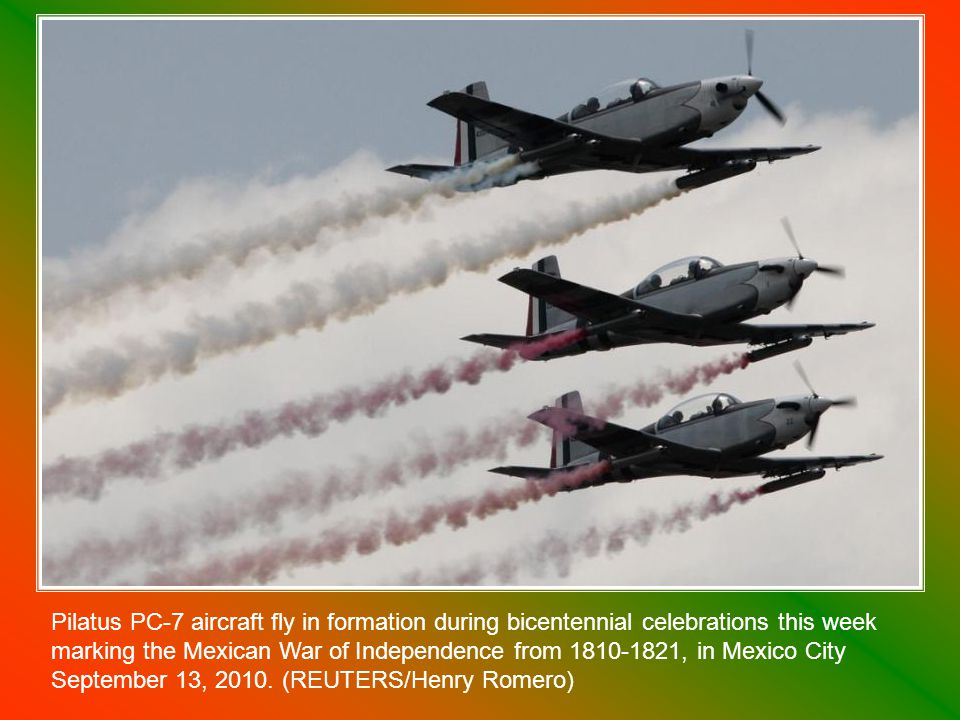 Members of the Mexican air force march in the Independence Day military parade during bicentennial celebrations in Mexico City s main Zocalo plaza, Thursday Sept.