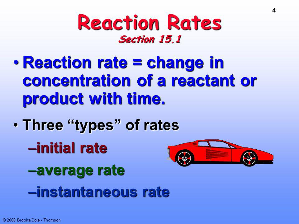 45 © 2006 Brooks/Cole - Thomson Mechanisms O 3 + NO reaction occurs in a single ELEMENTARY step.