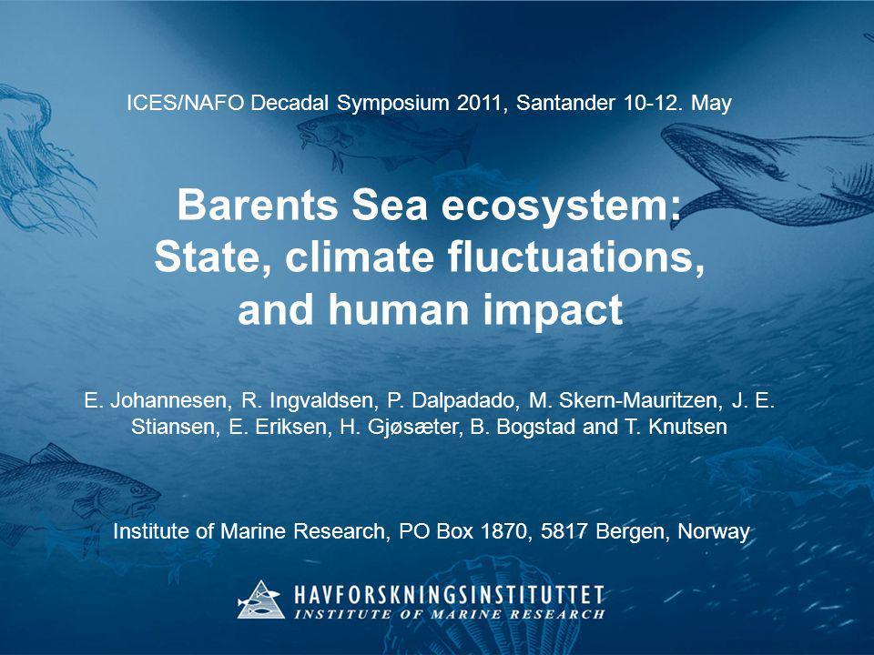 ICES/NAFO Decadal Symposium 2011, Santander 10-12.