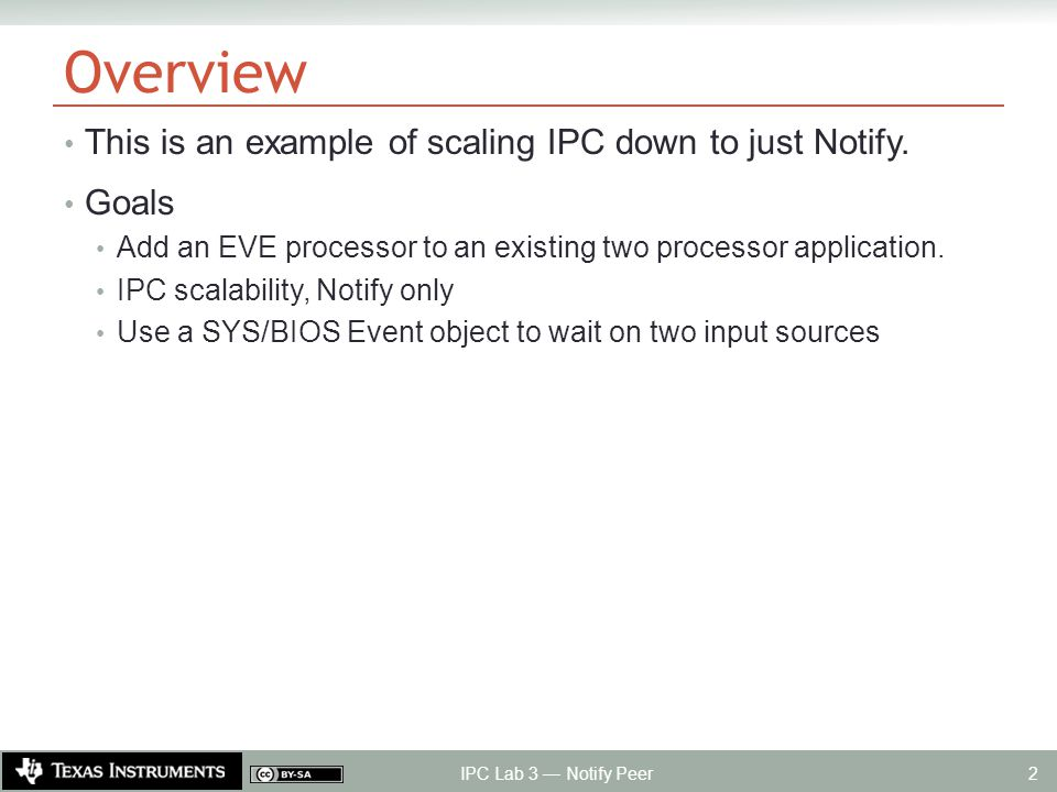 Overview This is an example of scaling IPC down to just Notify.