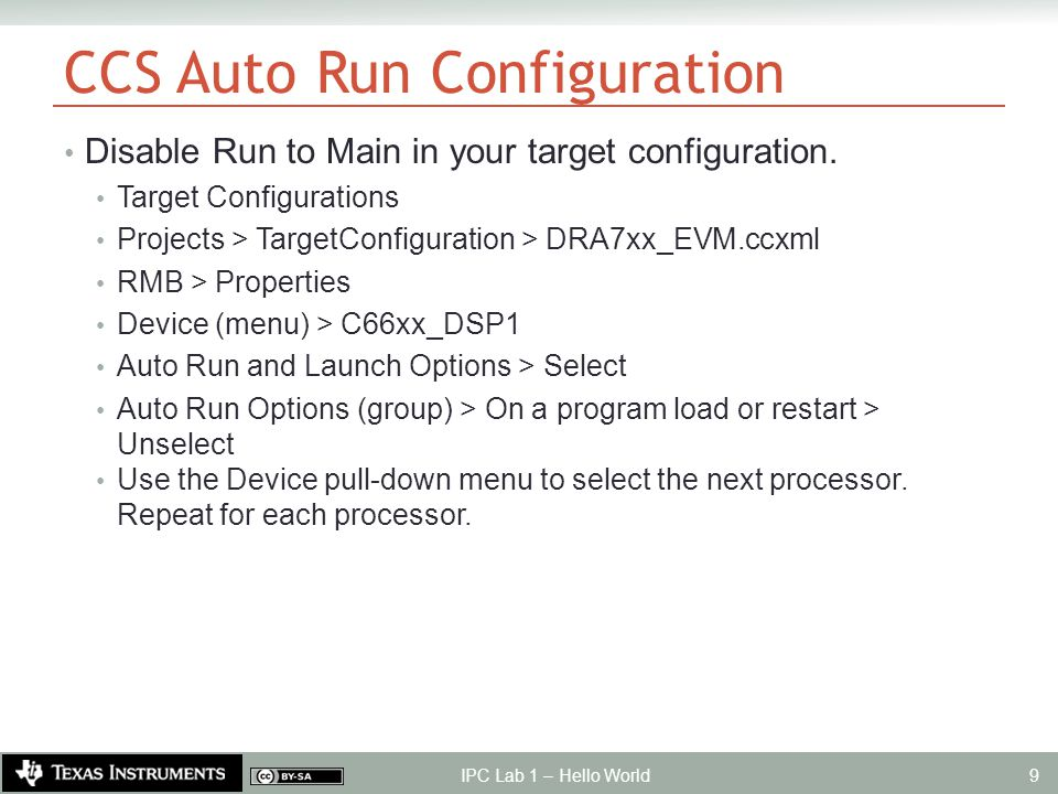 CCS Auto Run Configuration Disable Run to Main in your target configuration.