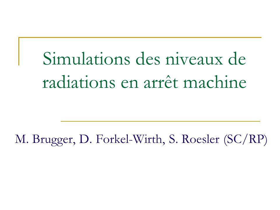 Simulations des niveaux de radiations en arrêt machine M.