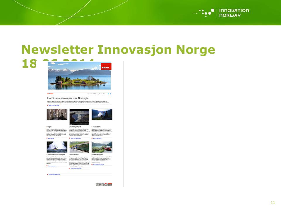Newsletter Innovasjon Norge 18.06.2014 11