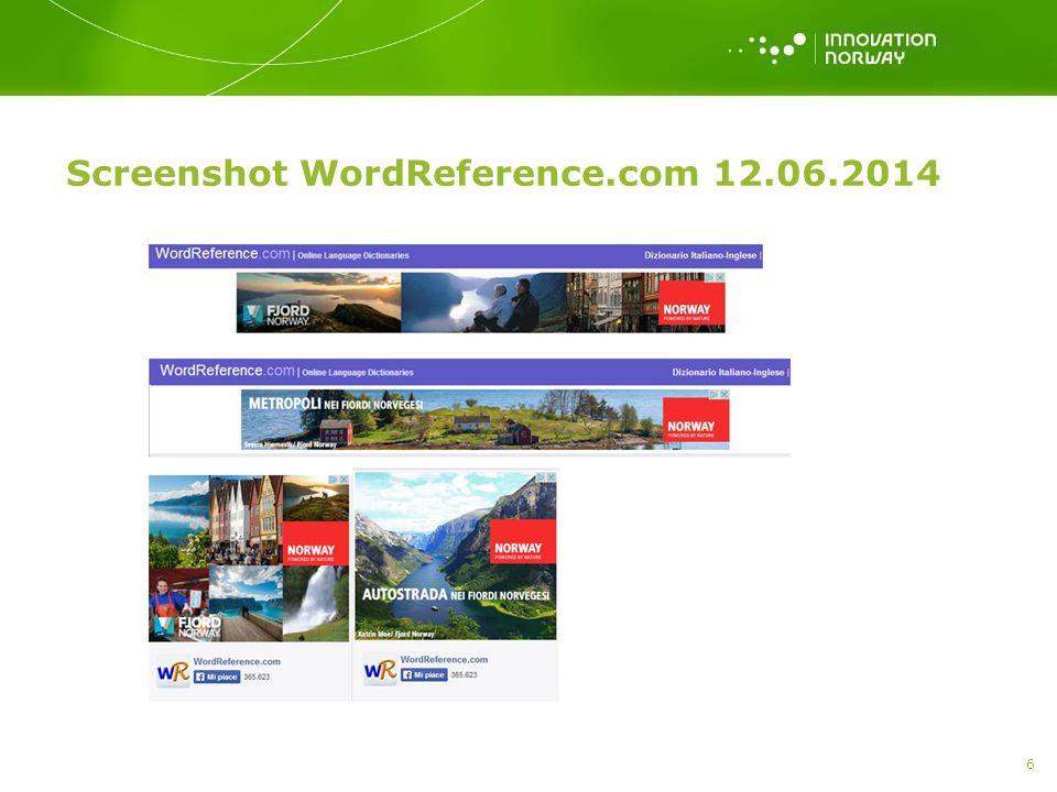 Screenshot WordReference.com 12.06.2014 6