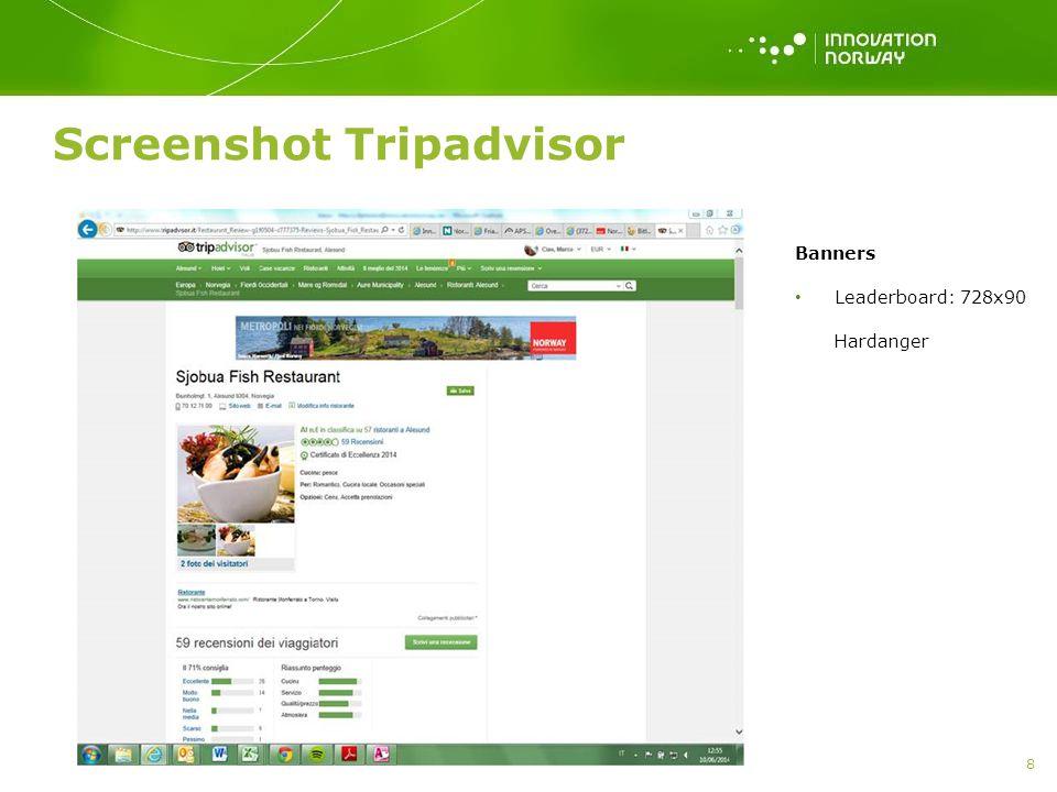 Screenshot Tripadvisor 8 Banners Leaderboard: 728x90 Hardanger