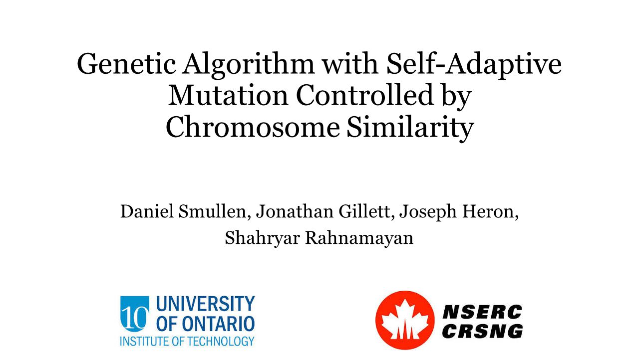 Influence of Chromosome Similarity on Mutation Rate Here we see self-adaptation occurring.
