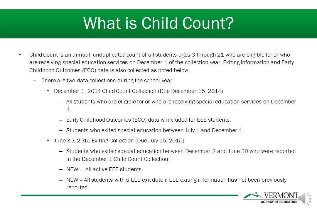 Child Count Overview