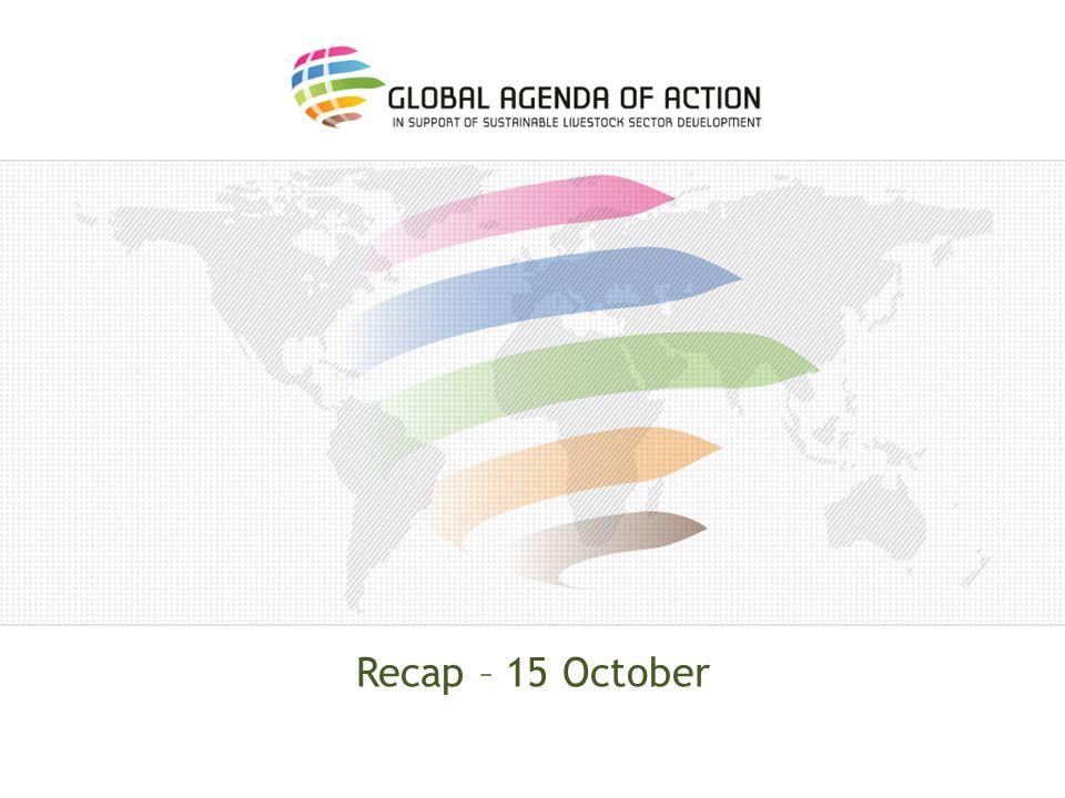 Recap – 15 October