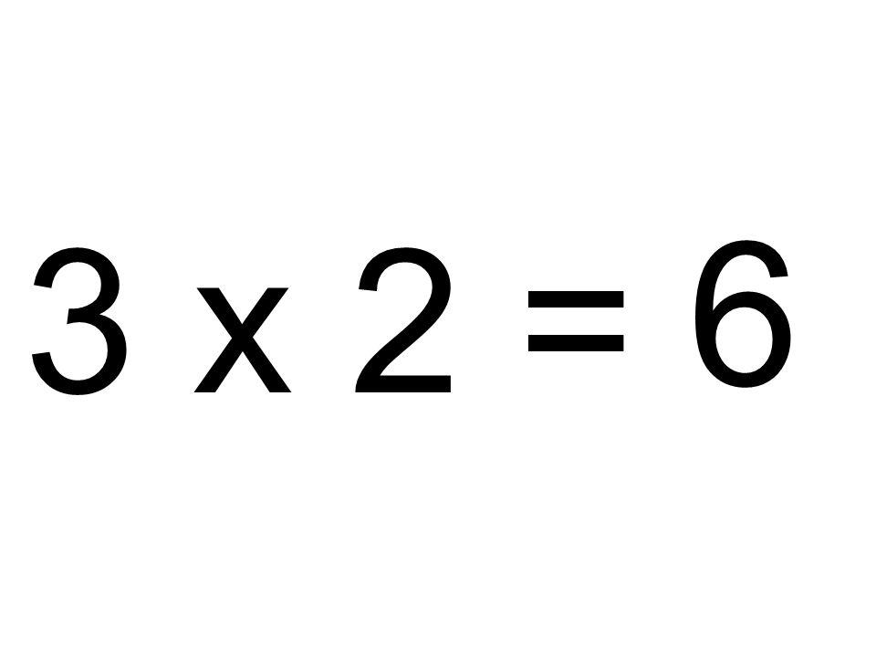 3 x 2 = 6
