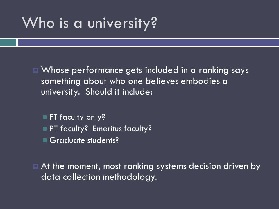 Who is a university.