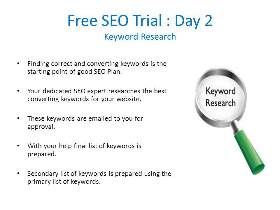 Free SEO Trial : Day 3 Initial Report Creation Your login in created on our website, we call this login as CLIENT WEBSITE DASHBOARD.