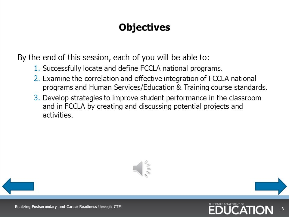 Correlation of FCCLA National Programs and Course Standards Power of One A Better You: Improve personal traits Family Ties: Get along better with family members Working on Working: Explore work options, prepare for a career, or sharpen skills useful in business Take the Lead: Develop leadership qualities Speak out for FCCLA: Tell others about positive experiences in FCCLA Introduction to Human Studies  A Better You Standards 3, 4, 6, 11, 13, 14, 15, 16, 17, 18  Family Ties Standards 1, 2, 4, 6, 13, 14, 15, 16, 17, 18  Take the Lead Standards 2, 3, 4, 6, 15  Working on Working Standards 5, 6, 9, 10, 11, 18  Speak out for FCCLA Standards 16, 17, 18 Realizing Postsecondary and Career Readiness through CTE 13