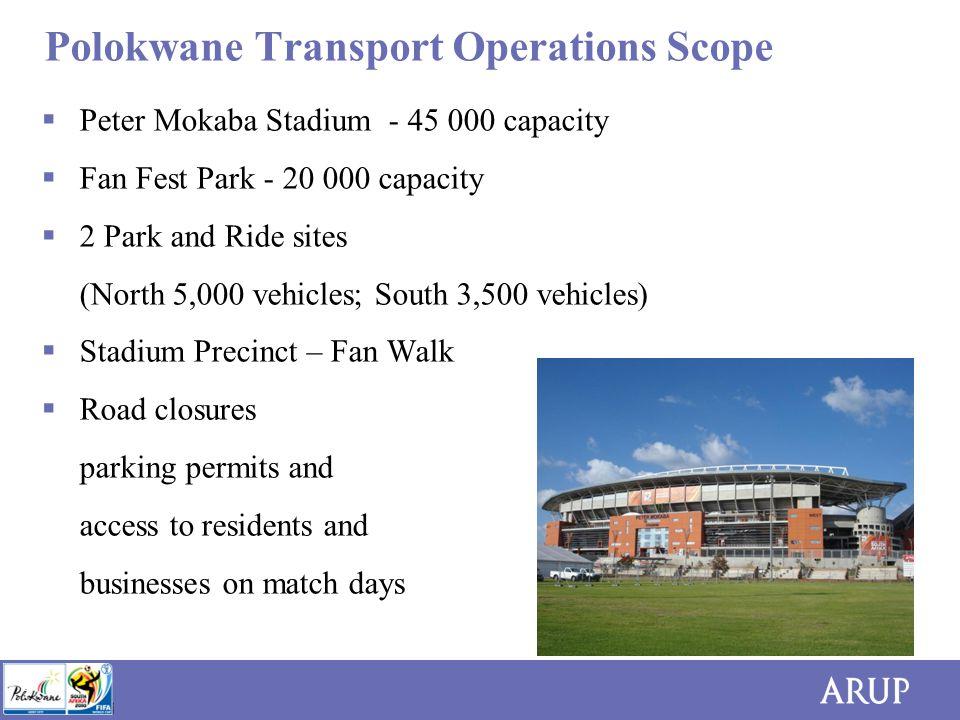 8 Polokwane Transport Operations Scope  Resources (i.e.
