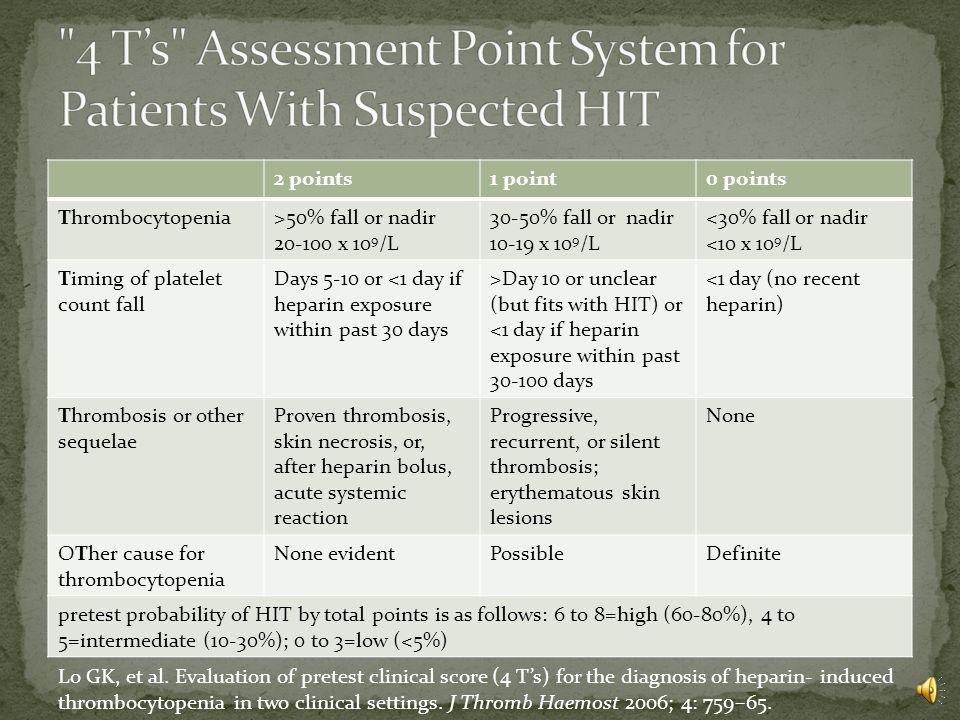 Differential diagnosis Sepsis DIC TTP/HUS Drug-induced Antibiotics Heparin (see OSU website) ITP