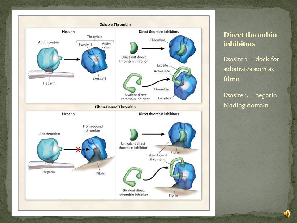 Di Nisio M, et al. Direct thrombin inhibitors. NEJM 2005;353:1028-40.