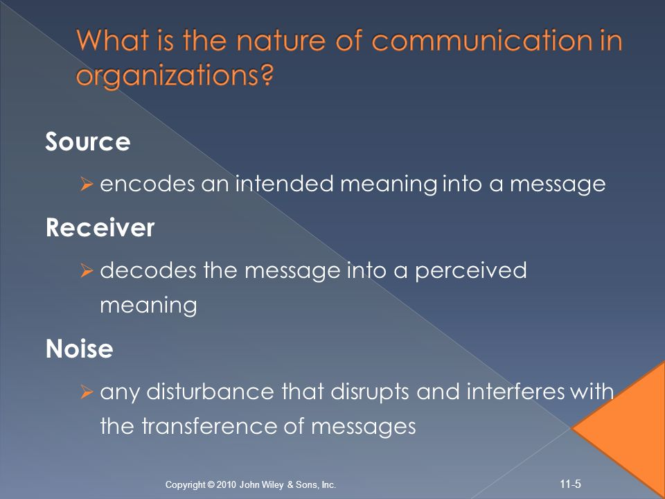 Absence of feedback  One-way communication flows from sender to receiver only, with no direct and immediate feedback.