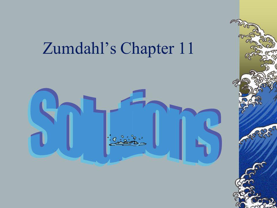Zumdahl's Chapter 11