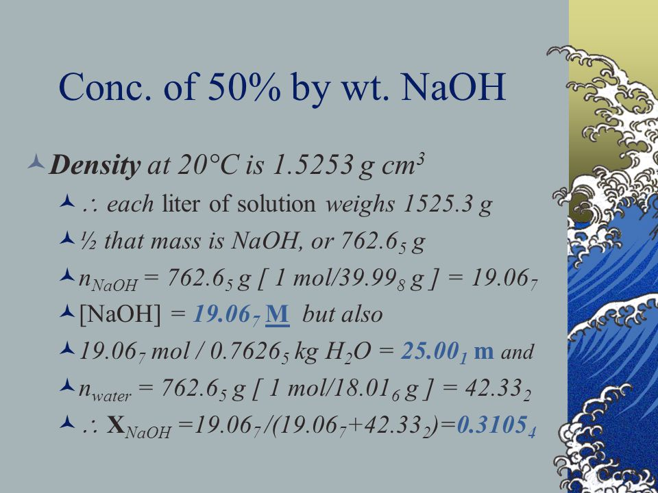 Conc.of 50% by wt.