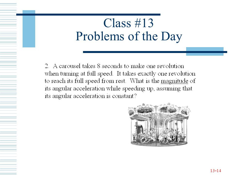 13-14 Class #13 Problems of the Day
