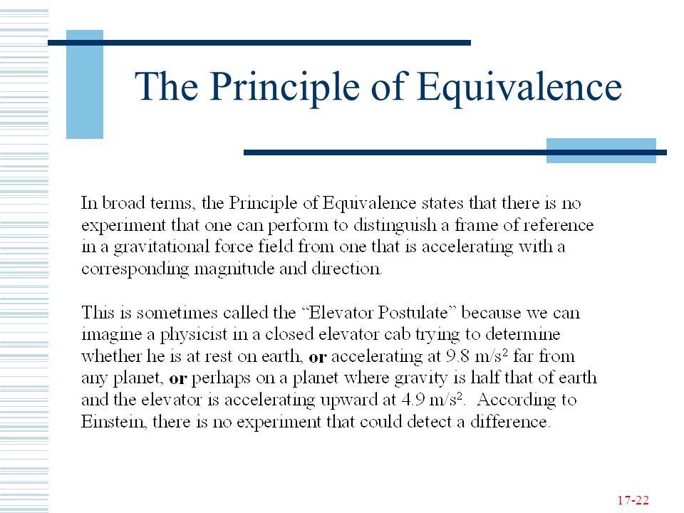 17-22 The Principle of Equivalence