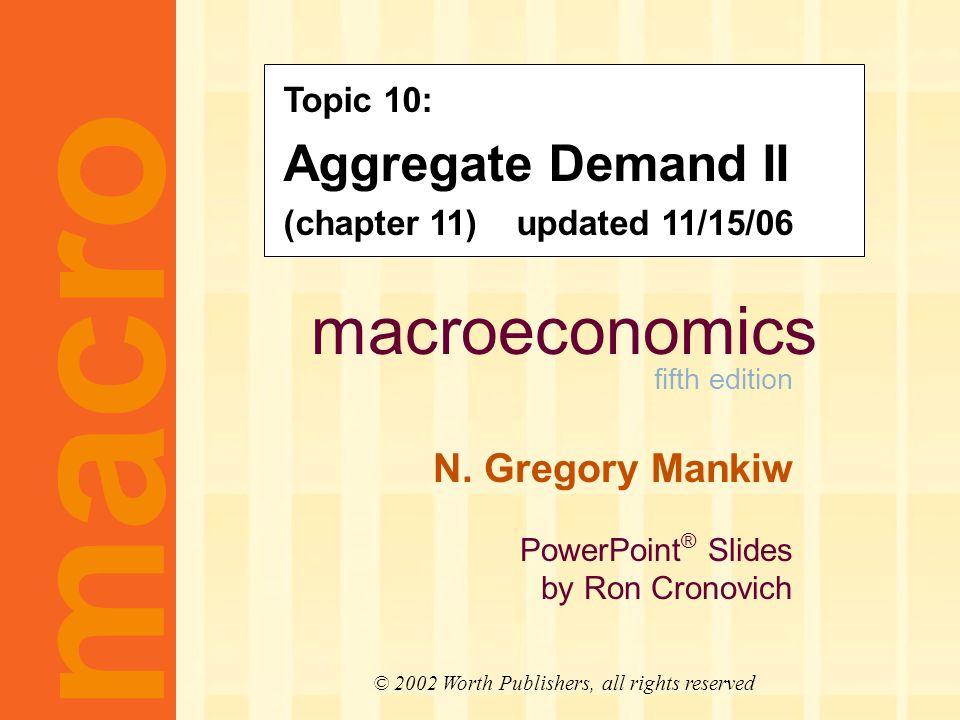 macroeconomics fifth edition N.