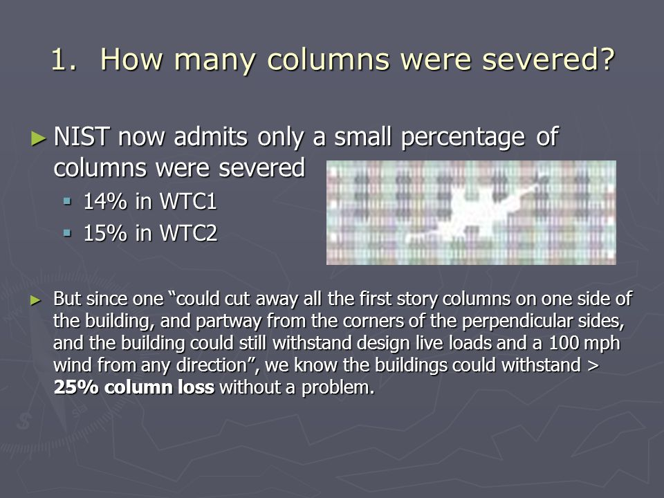 1.How many columns were severed.