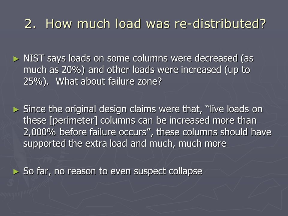2.How much load was re-distributed.