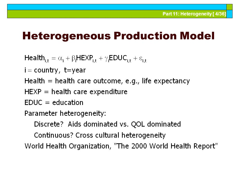 Part 11: Heterogeneity [ 4/36] Heterogeneous Production Model