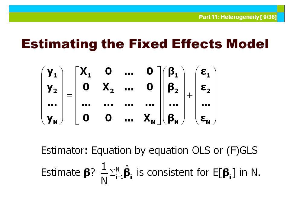 Part 11: Heterogeneity [ 10/36] Partial Fixed Effects Model