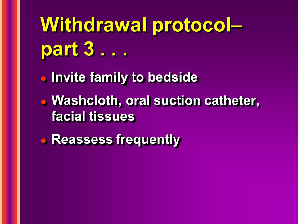 Withdrawal protocol– part 3...