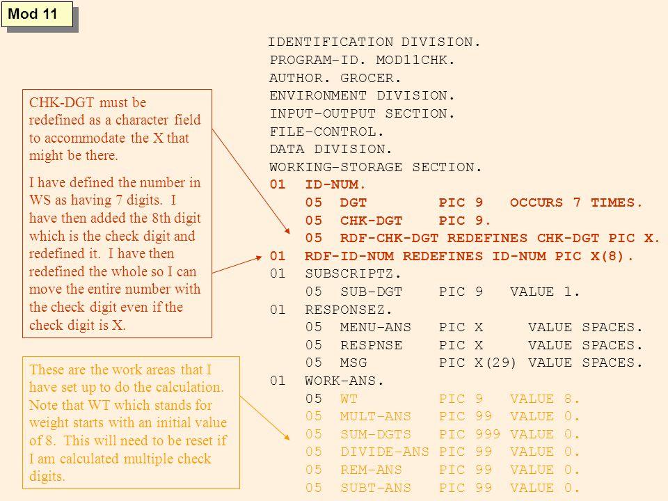 SCREEN SECTION.01 MENU-SCR. 05 VALUE MENU BLANK SCREEN LINE 5 COL 30.