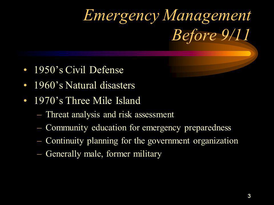 14 Key to community safety Emergency managers will never be the heroes, but they are the lynchpins that hold the community together through every disaster.