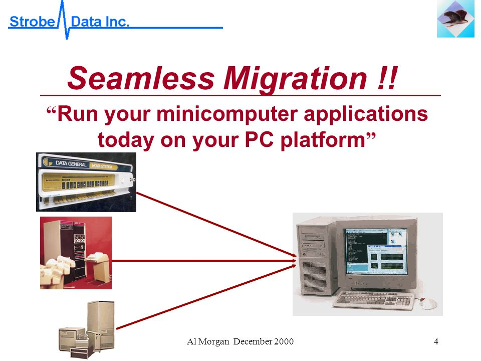 Al Morgan December 20004 Seamless Migration !.
