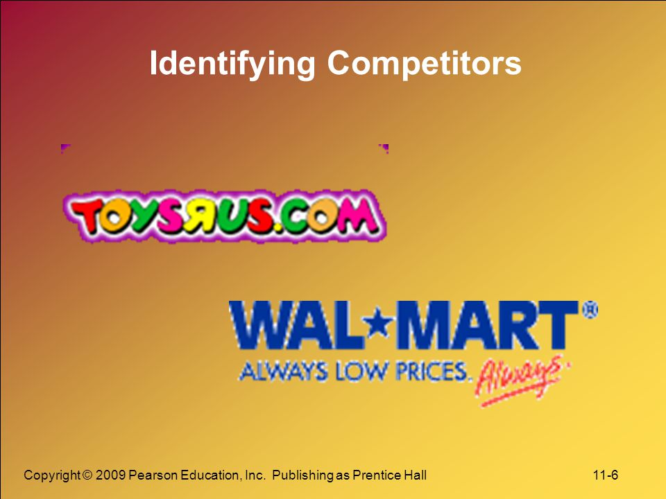 Copyright © 2009 Pearson Education, Inc. Publishing as Prentice Hall 11-6 Identifying Competitors