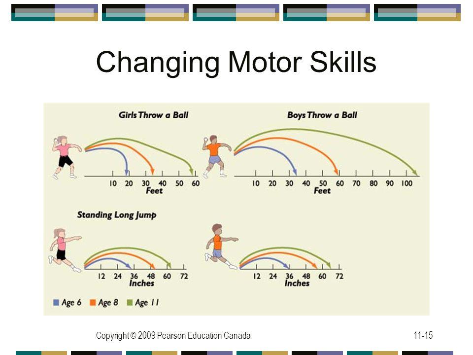 Copyright © 2009 Pearson Education Canada11-15 Changing Motor Skills