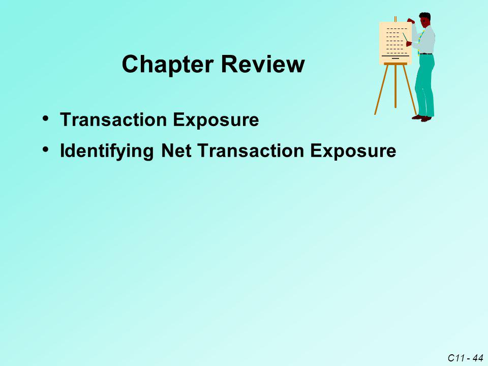 C11 - 44 Transaction Exposure Identifying Net Transaction Exposure Chapter Review