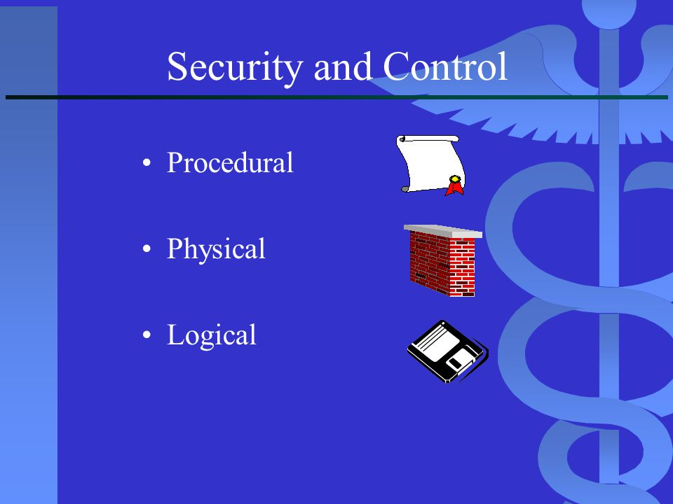 Procedural Physical Logical Security and Control