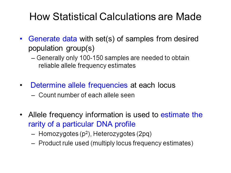 How Are Such Large Numbers Generated with Random Match Probabilities.