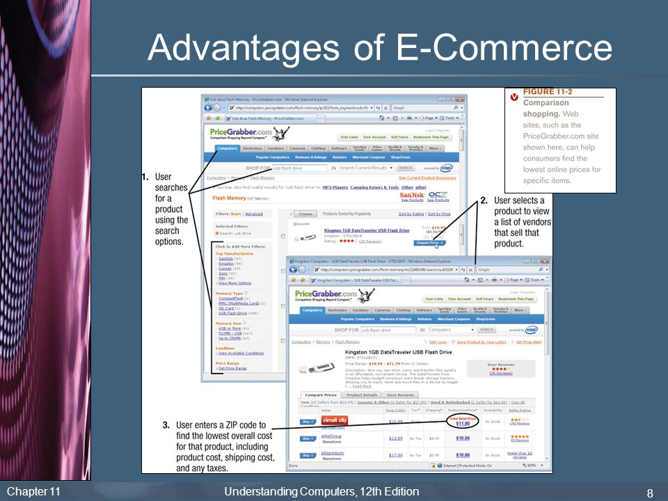 Chapter 11 Understanding Computers, 12th Edition 8 Advantages of E-Commerce