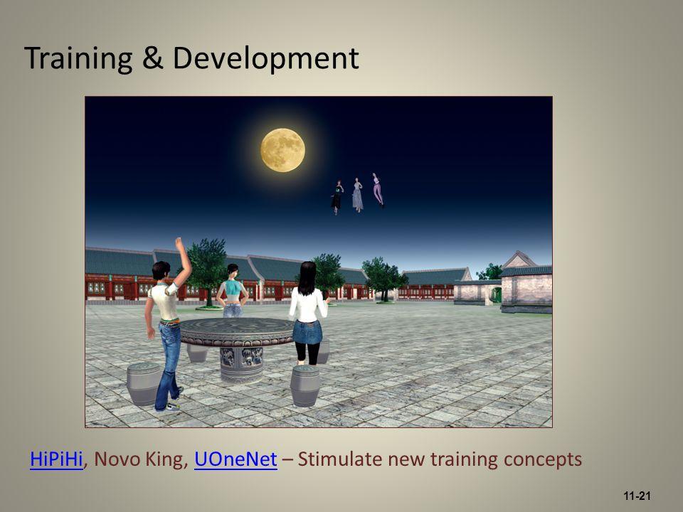 11-21 Training & Development HiPiHiHiPiHi, Novo King, UOneNet – Stimulate new training conceptsUOneNet