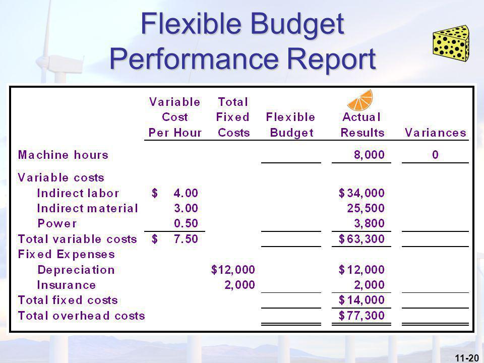 11-20 Flexible Budget Performance Report