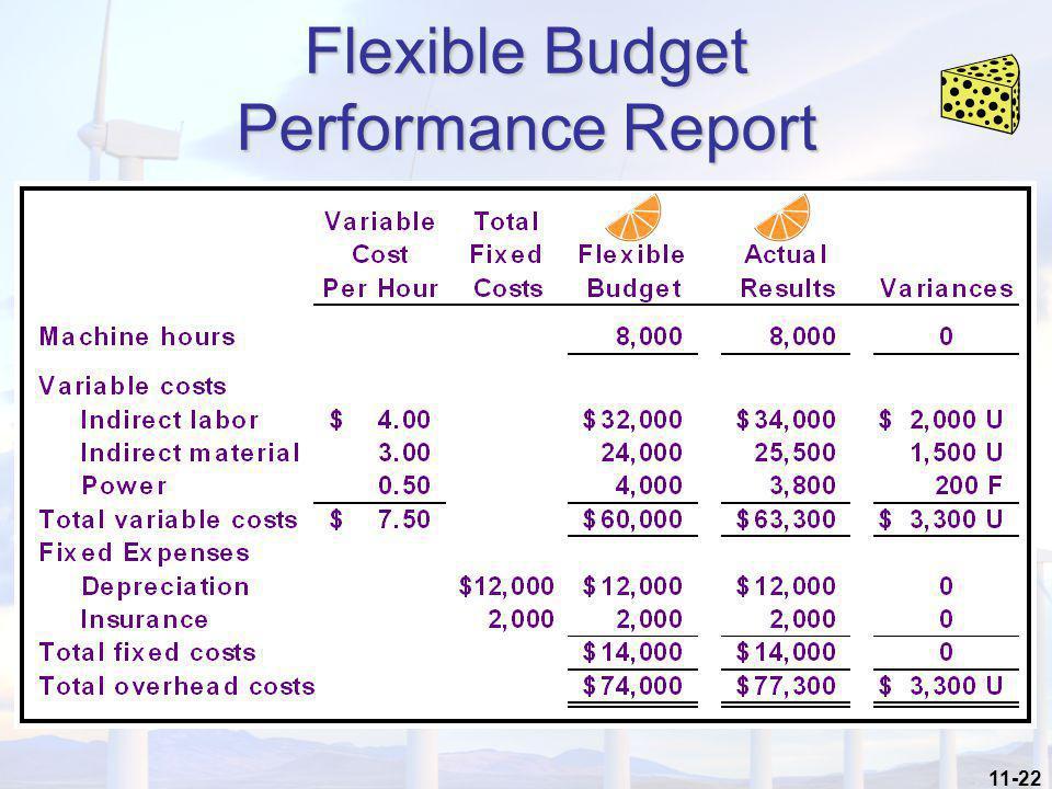 11-22 Flexible Budget Performance Report