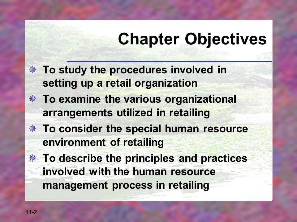 11-3 Figure 11-1a: Planning and Assessing a Retail Organization – Target Market Needs