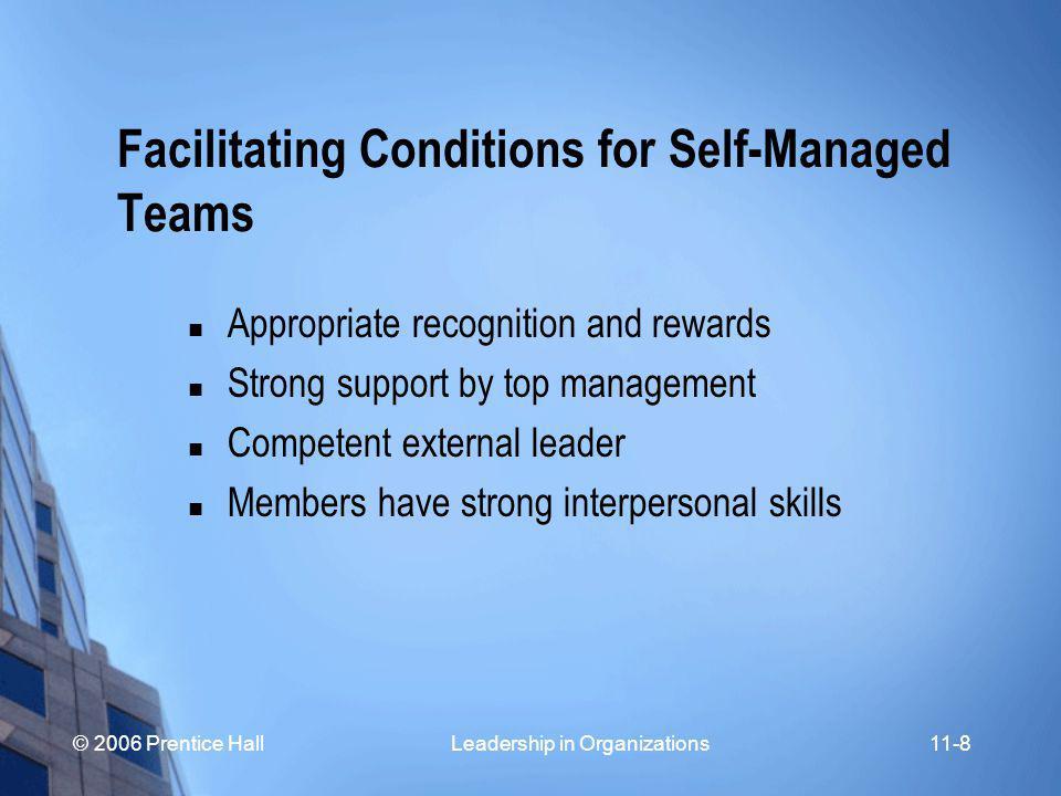 © 2006 Prentice Hall Leadership in Organizations11-19 Leadership Functions in Decision Groups