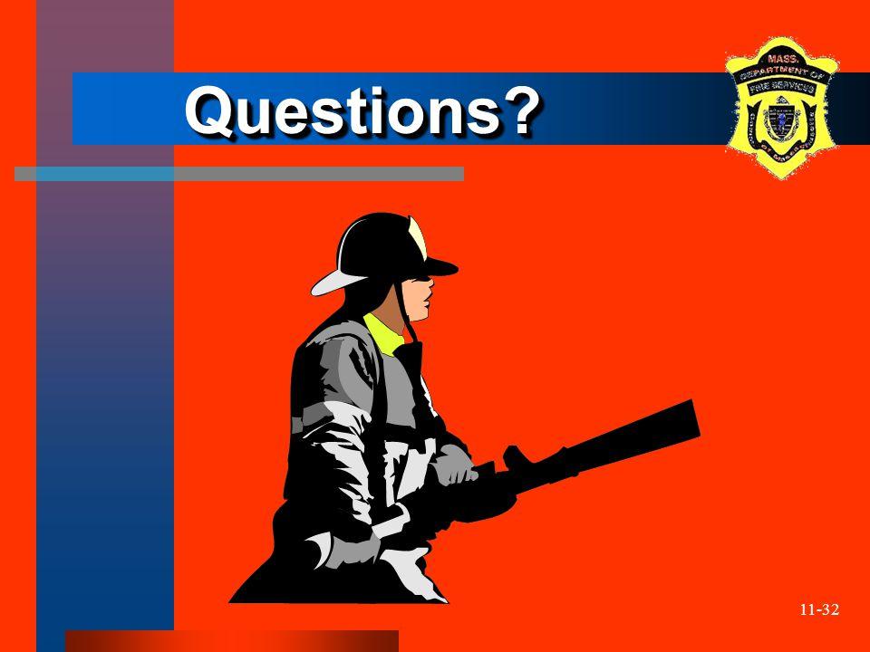 11-32 Questions Questions