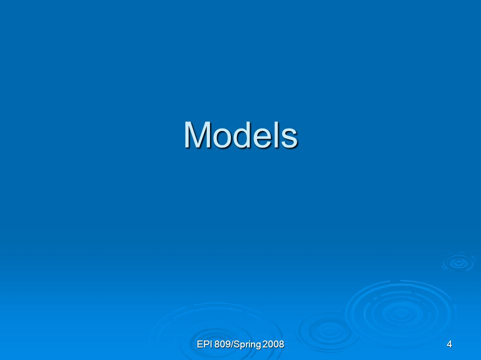 5 What is a Model.1. Representation of Some Phenomenon Non-Math/Stats Model 1.