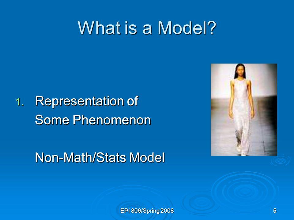 EPI 809/Spring 200836 Population Linear Regression Model Observed value  i = Random error