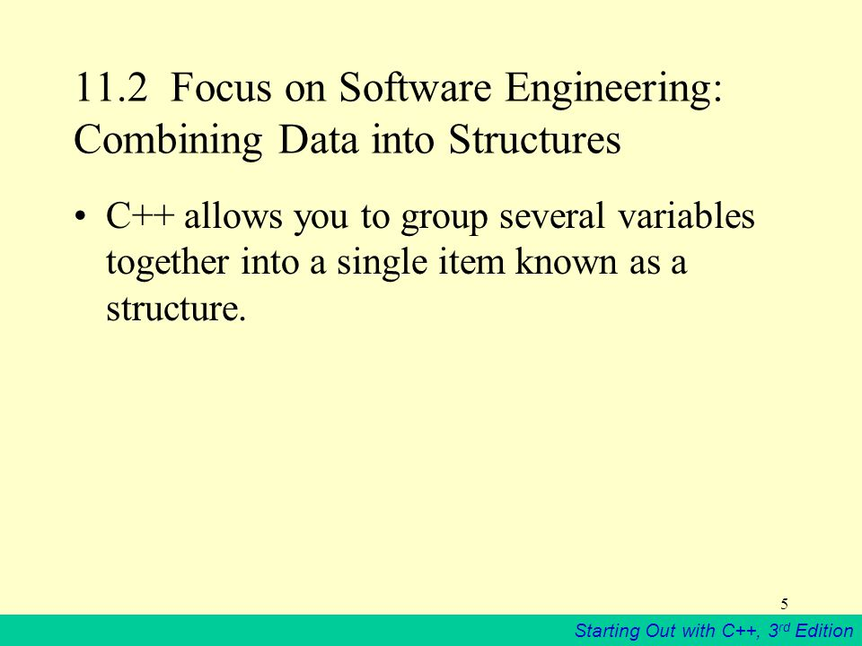 Starting Out with C++, 3 rd Edition 46 Constant Reference Parameters Sometimes structures can be quite large.
